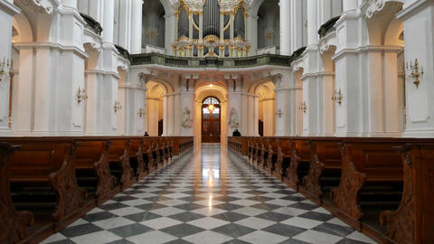 Inside the Dresden Cathedral Footage