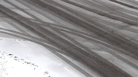 Snowy road Footage