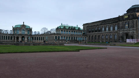 Stormclouds over the Zwinger in Dresden Footage