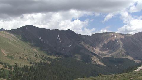 Colorado Mountains Sky Clouds stock footage