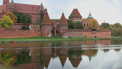 View of the Malbork Castle from the other side of Footage