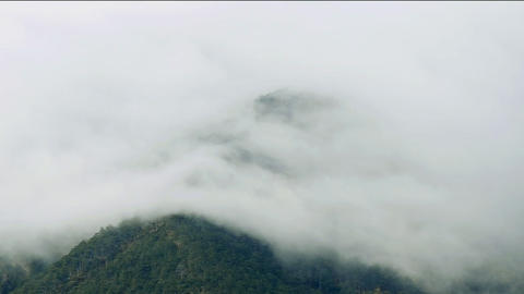 Low Clouds In The Mountains stock footage