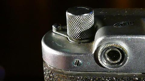 Old SLR camera (adjustable viewfinder) Footage