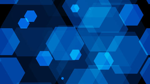 tileable blue hexagon background with alpha Animation