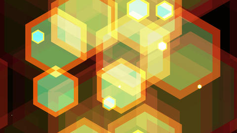 tileable vintage hexagonal shape with alpha Animation