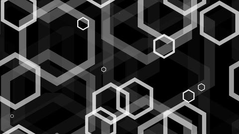 tileable white hexa lines with alpha Animation