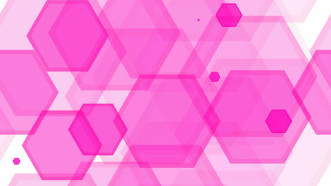 tileable pink hexa decoration Stock Video Footage