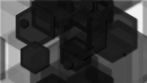 tileable hexagonal black shape Animation