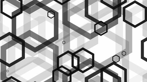 tileable hexagonal line black Animation