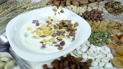 Useful and Healthy Breakfast Footage