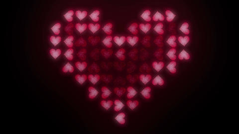 Hearts LED 001 Blink stock footage