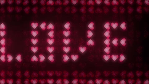 Hearts LED 002 Love You Animation