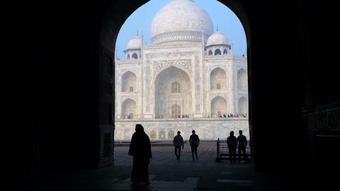 20140222 Dk Taj Mahal Agra 0031 stock footage