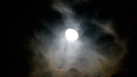 Moon and clouds Footage