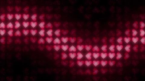 Hearts LED 004 Sine Wave Animation