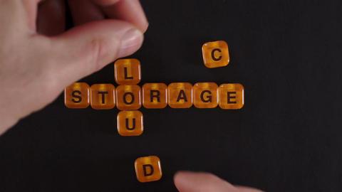 Letters Blocks Spelling Cloud Storage Footage