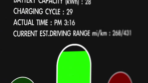 4 K Electric Vehicle Car Charging Station Display  Animation