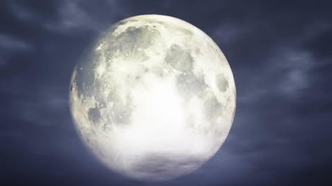 Full Moon 3 D Animation 1 Stock Video Footage