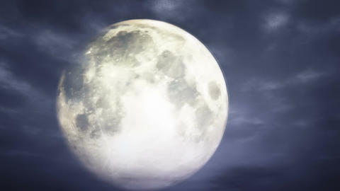 Full Moon at Cloudy Night 3 D Animation 1 Animation