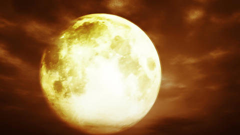 Full Moon at Cloudy Night 3 D Animation 2 surreali Animation