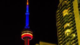 Toronto Nightscape TL 4k stock footage