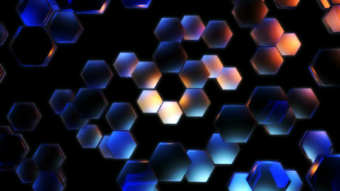 glowing hexagonal lights Animation