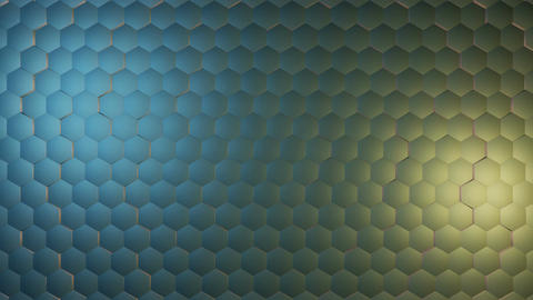 shine metal hexagonal Animation