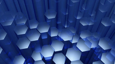 blue hexagonal edge Animation