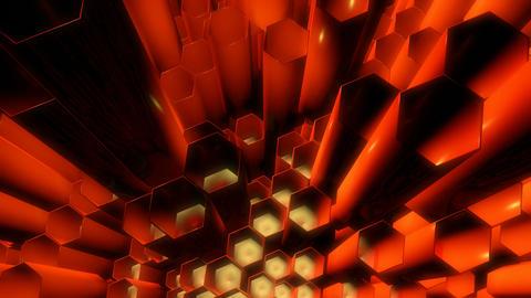 glossy hexa tubes Animation
