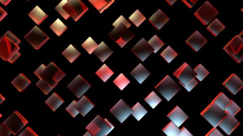red rhombus pieces Animation