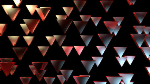 red triagonal pieces Animation