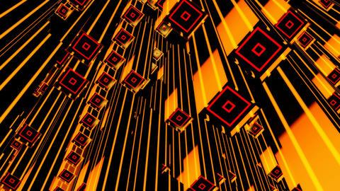 yellow square tubes Animation