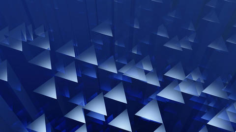 blue triagonal edge Animation