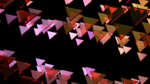 flying glowing triangle Animation