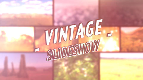 Vintage Slideshow - After Effects Template After Effectsテンプレート