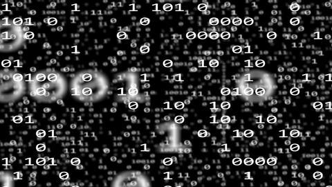 binary internet data code 3d flight BW 11602 Animation
