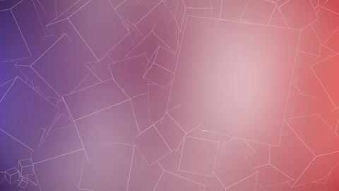 Outline Cubes Background with space for text. Seam Animation