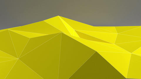 Abstract 3D shapes. Seamless loop Animation