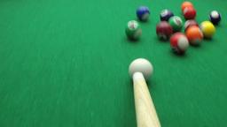 snooker balls in slow motion ビデオ