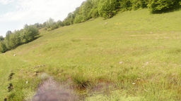 panorama from the top down to the mountain marsh d Footage