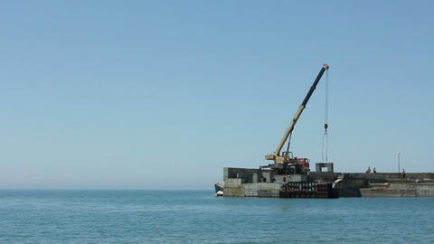 Building site on the sea Archivo