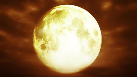 Full Moon 3 D Animation 2 surrealistic Animation
