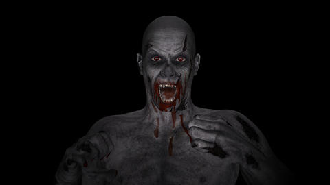 Vampire - Bloody Zombie - Loop - Alpha Animation
