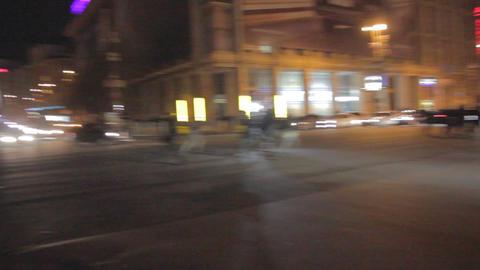 Strike In Ukraine - Police Changes Location (runni stock footage