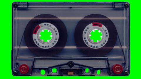 Audio Tape (green Screen) stock footage