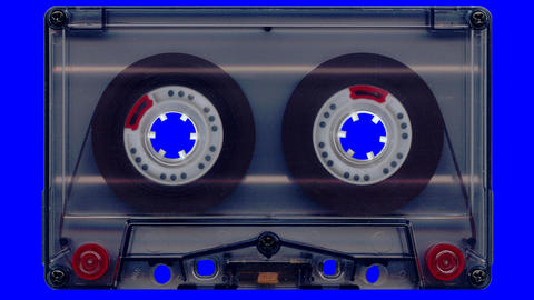 Audio tape (blue screen) Animation