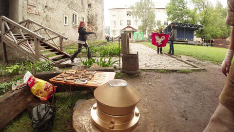 report spring in Chynadiyevo castle near Mukachevo, traditionally held an intern Footage