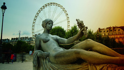 Statues from Jardin des Tuileries with Ferris Whee Footage