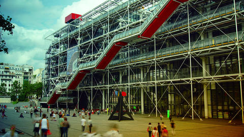 The Centre Pompidou, Time lapse,4k Footage
