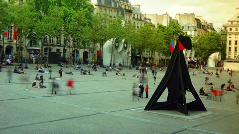 The Centre Pompidou, Time Lapse,4k stock footage